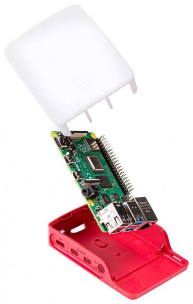 Carcasa oficiala Raspberry Pi 4 Model B - rosu/alb 3