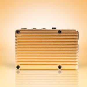 Carcasa radiator Pimoroni din aluminiu pentru Raspberry Pi 4 - Gold 3