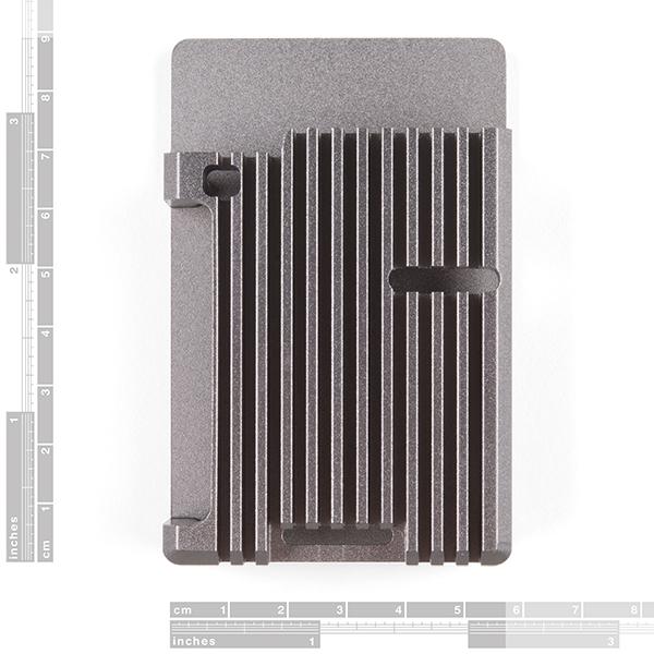 Carcasa radiator Pimoroni din aluminiu pentru Raspberry Pi 4 - Gri 3