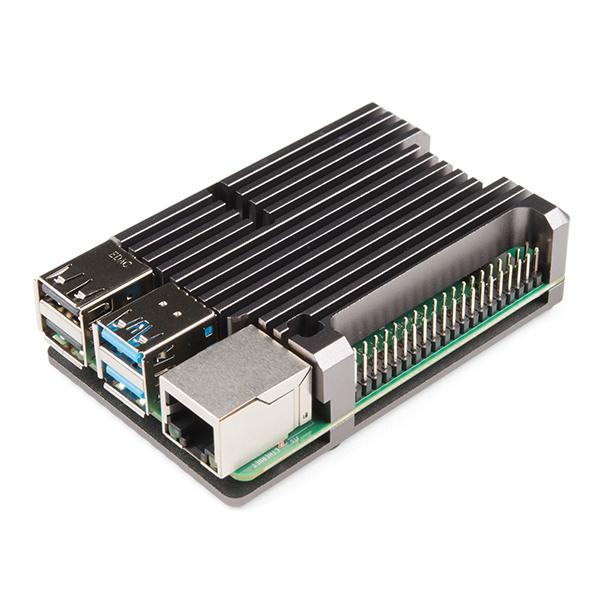 Carcasa radiator Pimoroni din aluminiu pentru Raspberry Pi 4 - Gri 2