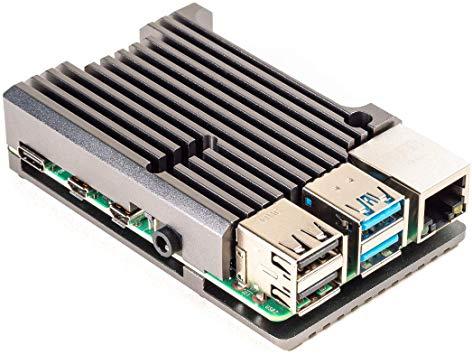 Carcasa radiator Pimoroni din aluminiu pentru Raspberry Pi 4 - Gri 0