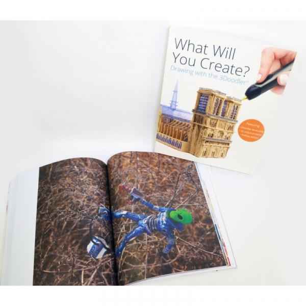 Carte proiecte, modele si instructiuni pentru creion 3D 3Doodler 5