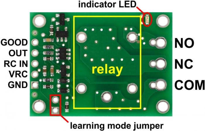 Comutator RC Pololu cu releu - asamblat 5