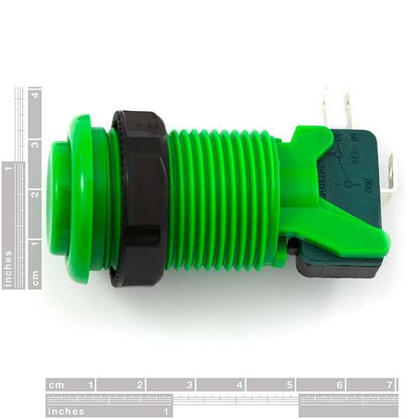 Buton concav verde 1