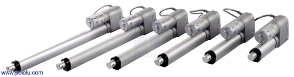 Actuator liniar LACT2P-12V-20 cu feedback 5.08cm Stroke, 12V, 1.27 cm/s 1