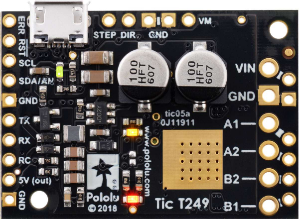 Driver motor stepper multi-interfata USB Tic T249 3