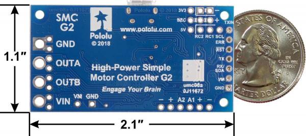 Driver simplu de motor Pololu G2 24v12 4