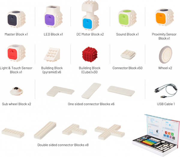 Cubroid Wireless STEAM kit robotic programabil 6
