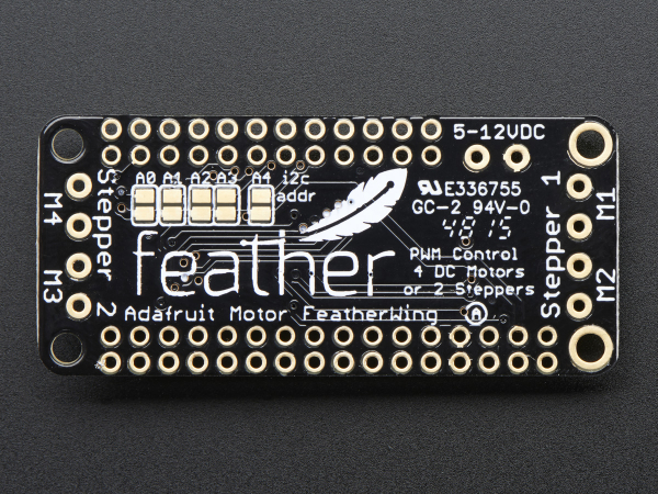 DC Motor + Stepper Shield pentru Feather 3