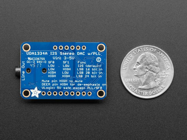 Decodor stereo Adafruit I2S - UDA1334A Breakout 4