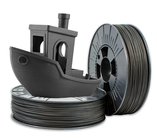 Filament fibra de carbon Dark Grey 1.75mm, 500 grame 0
