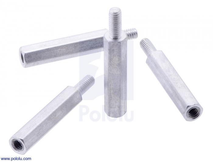 Distantiere din aluminiu pentru Raspberry Pi 18.6mm x 6mm M2.5 - 4 buc [4]