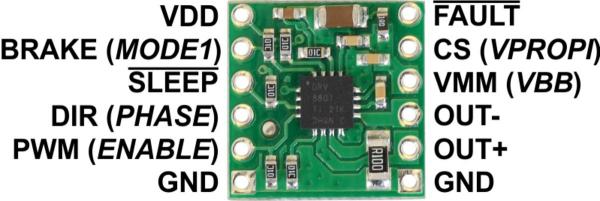 Driver motor DRV8801 2