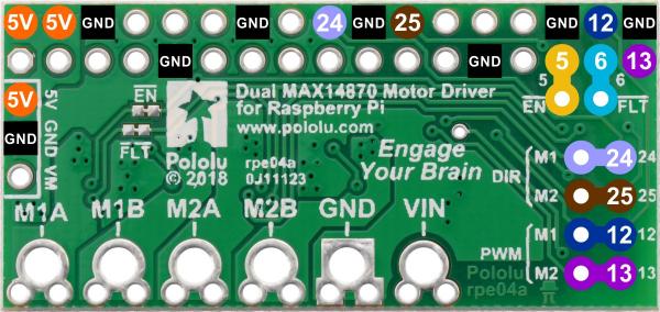 Dual MAX14870 Motor Driver pentru Raspberry Pi (Partial Kit) 4