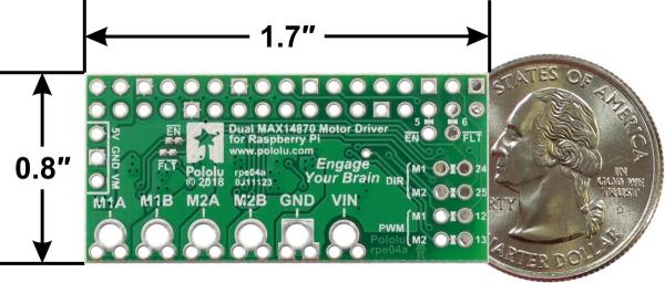 Dual MAX14870 Motor Driver pentru Raspberry Pi (Partial Kit) 1