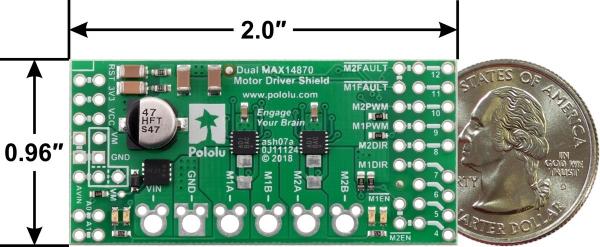 Dual MAX14870 Motor Driver Shield pentru Arduino 2