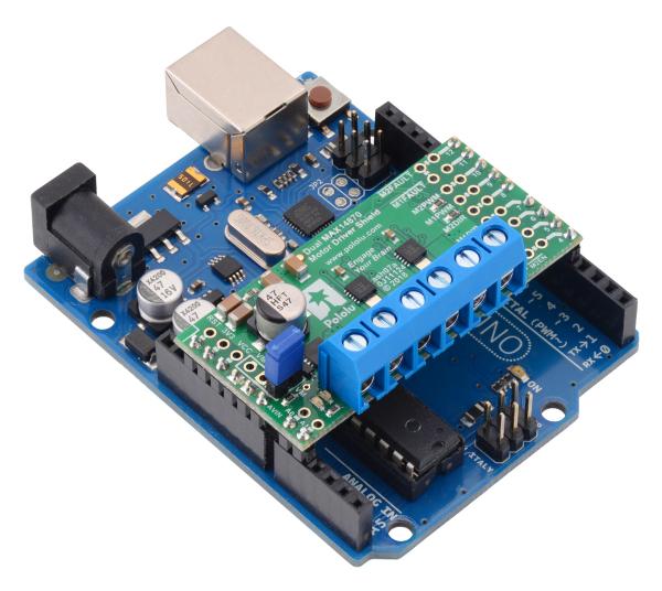 Dual MAX14870 Motor Driver Shield pentru Arduino 3