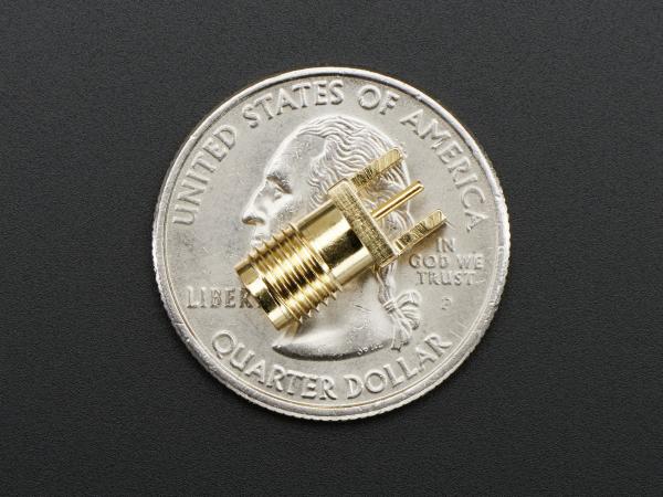 "Edge-Launch SMA Conector  1.6mm / 0.062"" Thick PCB 1"