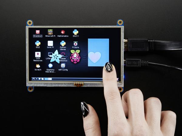 "HDMI 5"" 800x480 Display Backpack - cu Touchscreen [0]"