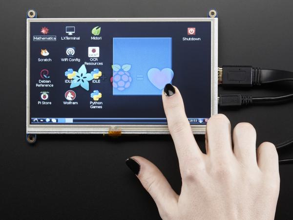 "Display HDMI 7"" 800x480 - Touchscreen 0"