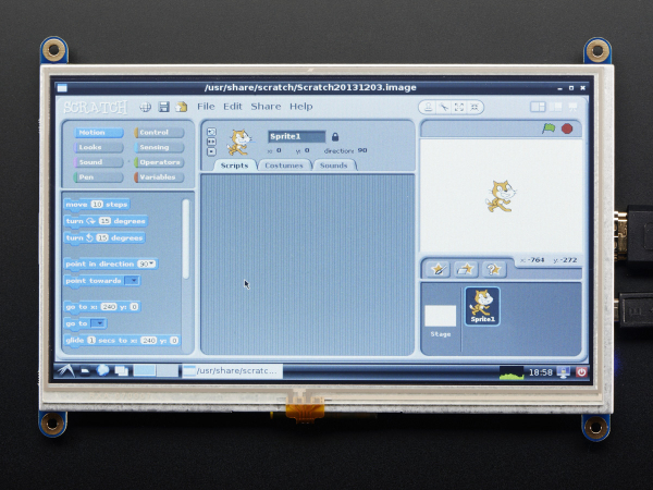 "Display HDMI 7"" 800x480 - Touchscreen 3"