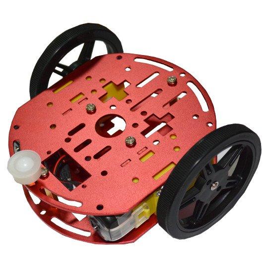 Kit robot cu carcasa metalica, roti si motoare DC [1]