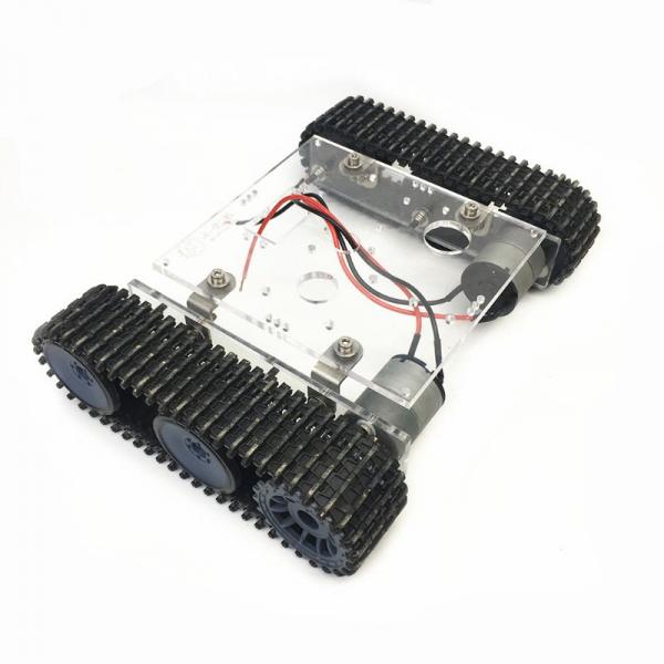 Kit sasiu robotic din acril cu motor inclus 0