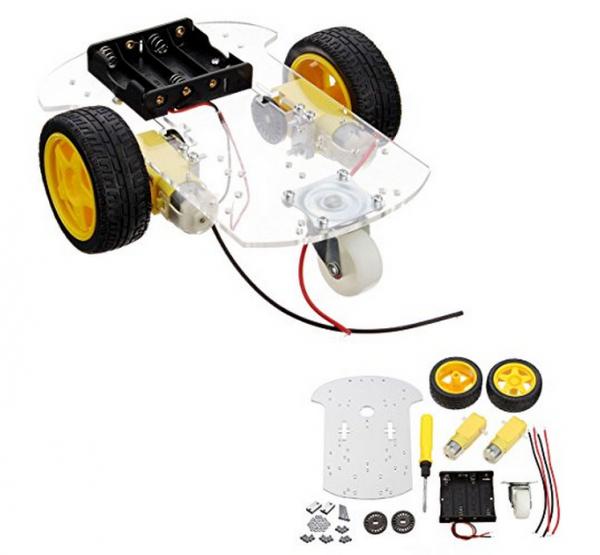 Kit sasiu vehicul robotic cu carcasa transparenta [0]