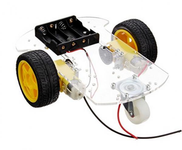 Kit sasiu vehicul robotic cu carcasa transparenta 2