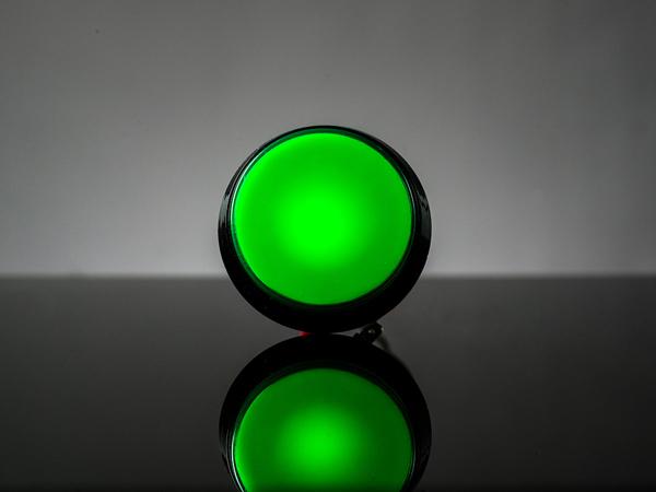 Buton Arcade cu LED verde - 60mm 0