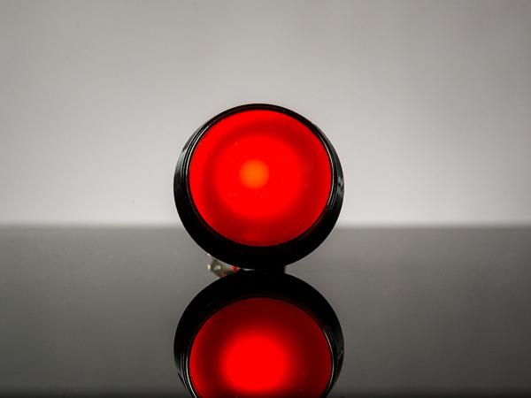 Buton Arcade cu LED rosu - 60mm 0