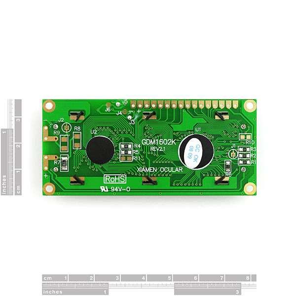 LCD 16 x 2 Alb pe Albastru, 5V 2