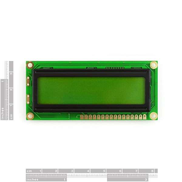 LCD 16 x 2 Alb pe Albastru, 5V 1