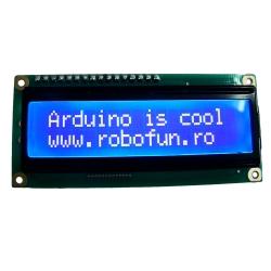 LCD 16 x 2 Alb pe Albastru, 5V 0