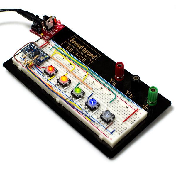 Buton tactil cu LED - Rosu 4
