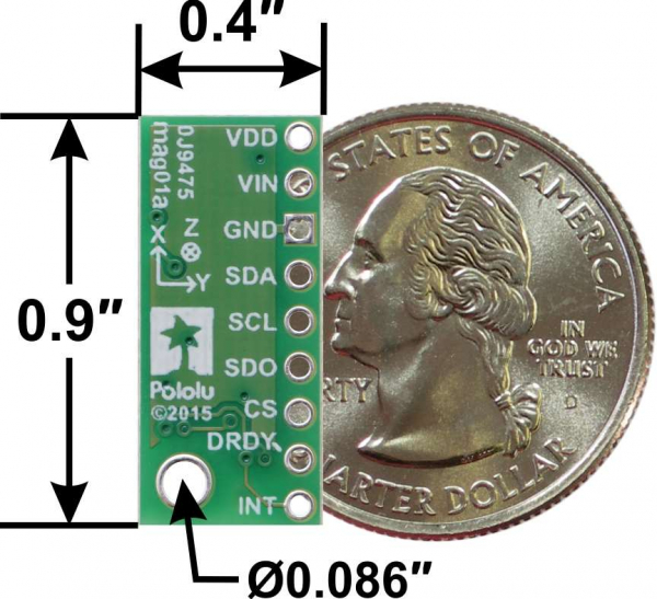 Magnetometru pe 3 Axe cu Regulator de tensiune - LIS2MDL 1
