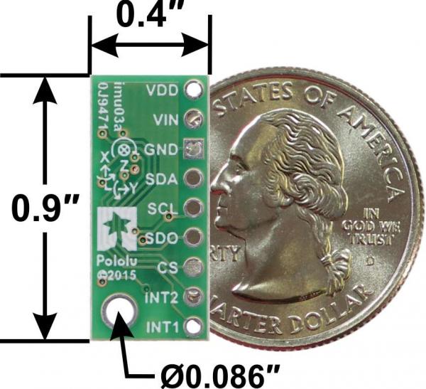 Accelerometru si Giroscop cu Regulator de tensiune - LSM6DS33 3D [1]