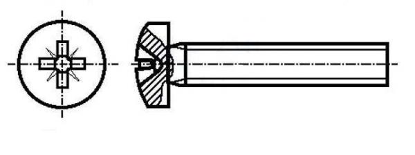 Set surub 3 mm (M3)  X 30 mm (10 bucati) cap Phillips 0