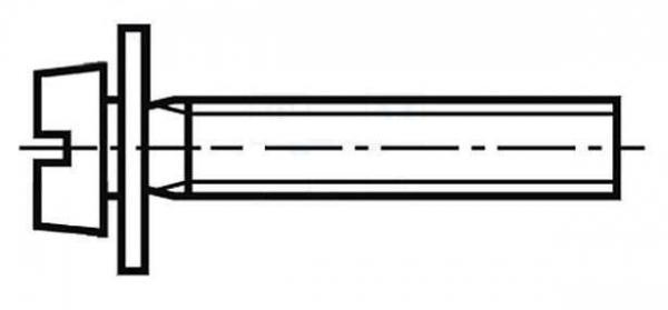 Set surub 4 mm (M4) X 12 mm (10 bucati) cu saiba [0]