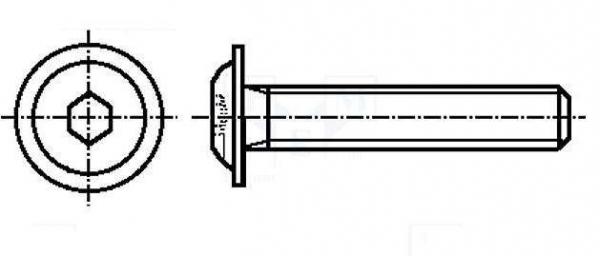 Set surub otel 4 mm (M4)  X 20 mm (10 bucati) lacas hexagonal 0