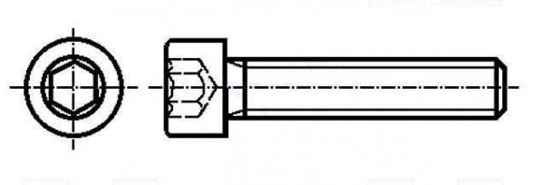 Set surub otel 4 mm (M4) X 25 mm (10 bucati) cap hexagon [0]