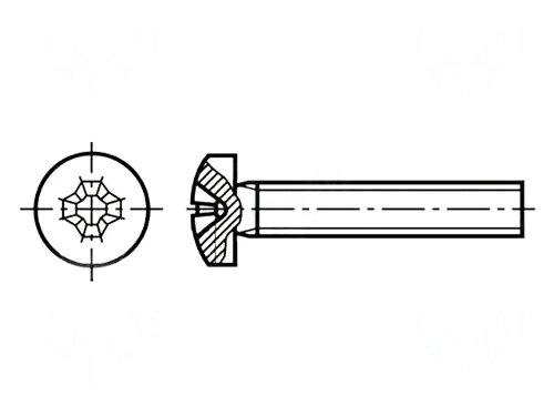 Set surub otel 2 mm (M2)  X 10 mm (10 bucati) 0