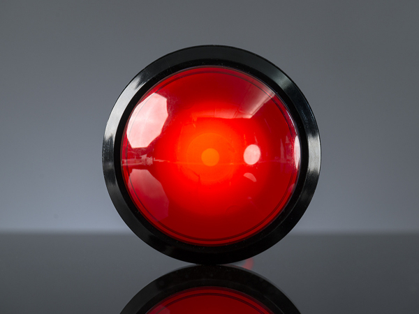 Massive Arcade Buton cu LED - 100mm Rosu 0