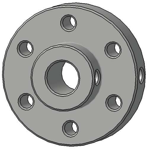 Conector roata motor 6 mm 4
