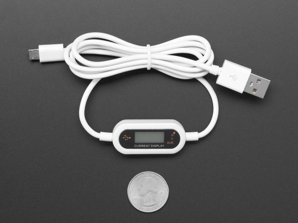 Cablu Micro B USB cu LCD tensiune si curent 3