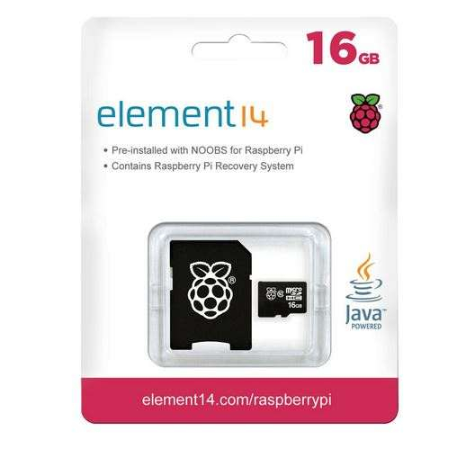 MicroSD Card Noobs Raspberry Pi V3 16GB 0