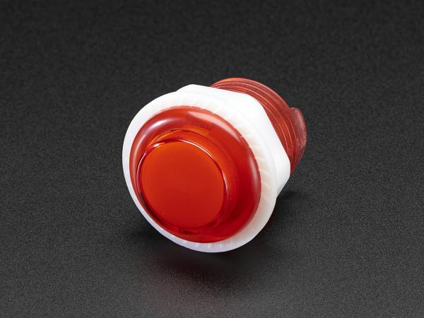 Mini LED Arcade Buton - 24mm  Rosu 0