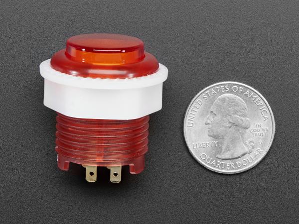 Mini LED Arcade Buton - 24mm  Rosu 1