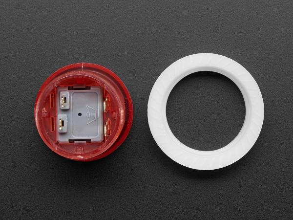Mini LED Arcade Buton - 24mm  Rosu 2