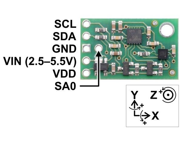 MinIMU-9 v5 Giroscop, Accelerometru si Magnetometru (LSM6DS33, LIS3MDL ) [2]